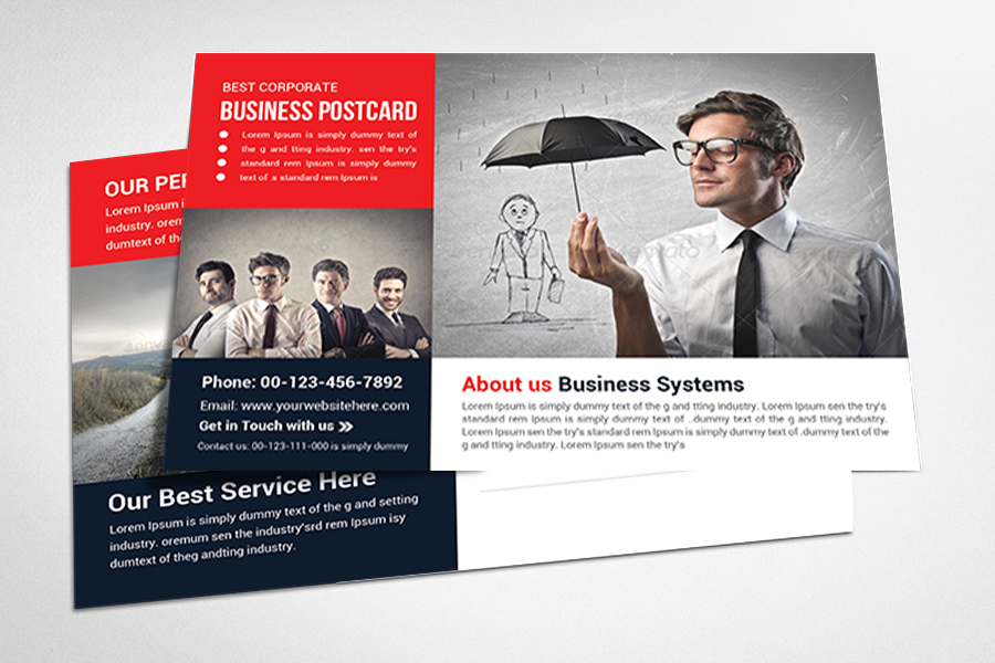 Business postcard template full service marketing commercial business postcard template flashek Images